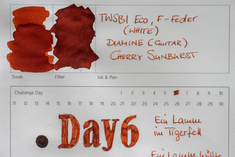 Diamine (Guitar Inks), Cherry Sunburst