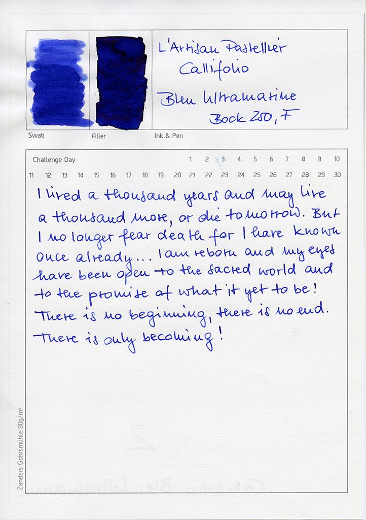 L'Artisan Pastellier Callifolio, Bleu Ultramarine