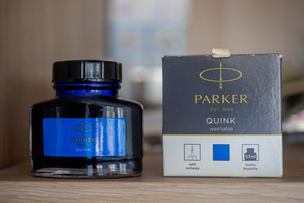 Parker Quink, Blue
