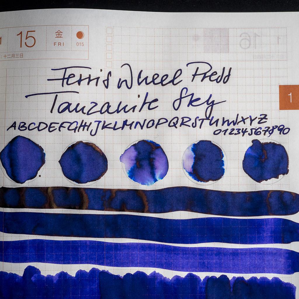 You are currently viewing Tinte 15 von 365: Ferris Wheel Press, Tanzanite Sky