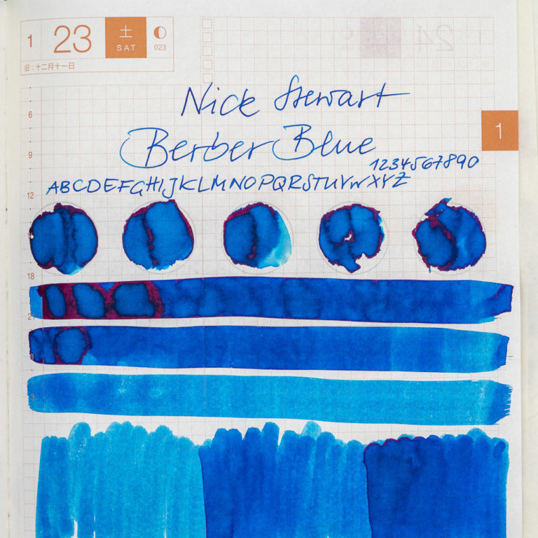 Tinte 23 von 365: Nick Stewart, Berber Blue