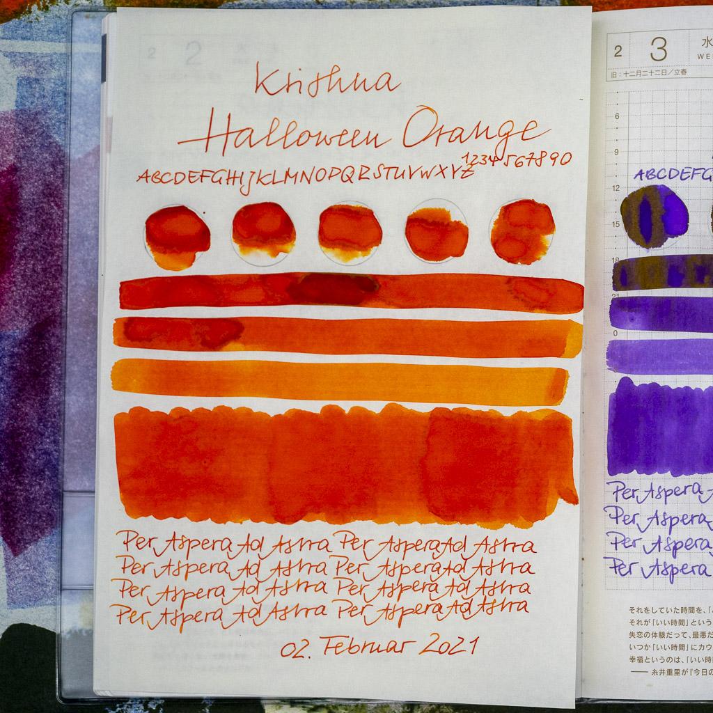 Tinte 33 von 365: Krishna, Halloween Orange