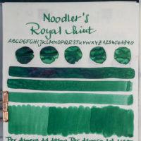 Tinte 45 von 365: Noodler's, Victorias Royal Mint