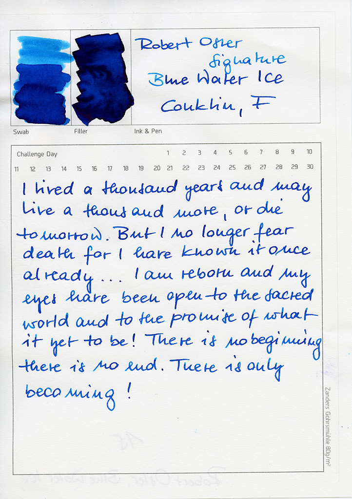 Robert Oster Signature, Blue Water Ice