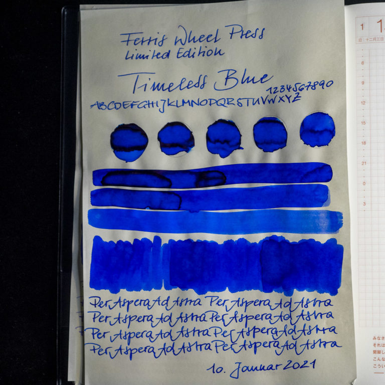 Tinte 10 von 365: Ferris Wheel Press, Timeless Blue