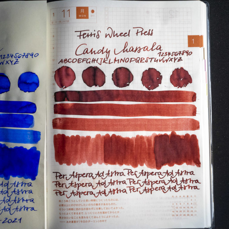 Read more about the article Tinte 11 von 365: Ferris Wheel Press, Candy Marsala