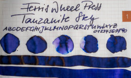 Tinte 15 von 365: Ferris Wheel Press, Tanzanite Sky