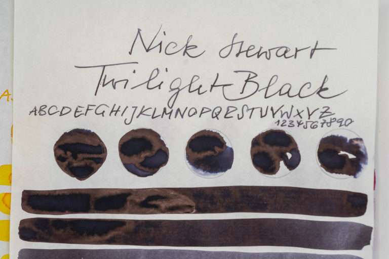 Tinte 26 von 365: Nick Stewart, Twilight Black