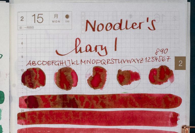 Tinte 46 von 365: Noodler's, Mary I